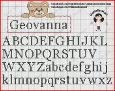 Letras em ponto cruz