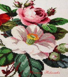 Cross-stitch pattern Bouquet of camellias por ParadiseaShop en Etsy
