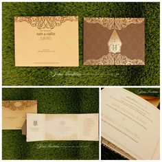 Vinas invitation. Traditional invitation. Traditional theme. Emboss gold invitation. Emboss. Indonesian wedding. Any question pls visit us at website www.vinasinvitation.com. courtesy of Ratih and Hafiizh