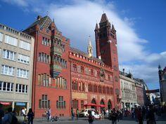 Basel Town Hall, Look facade, exterior view