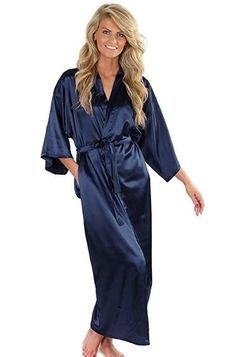ec824c4b11 Pajamas   Robes · Women Silk Satin Long Wedding Bride Bridesmaid Robe  Kimono Robe Feminino Bath Robe Large Size XXXL