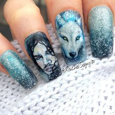 'You know nothing Jon Snow' by  rachelsequoia  #nail #nails #nailart
