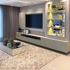 How To Quickly And Easily Create A Living Room Furniture Layout? Living Room Wall Units, Living Room Tv Unit Designs, Living Room Decor, Tv Wanddekor, Modern Tv Wall Units, Tv Wall Decor, Home Interior Design, Home Decor, Toledo Pr