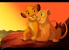 Simba and Nala Love Blossoming in the Savannah the lion king by SEGAmastergirl Simba Et Nala, Kiara Lion King, Roi Lion Simba, Lion King Fan Art, Lion King Movie, Lion King Simba, Le Roi Lion Disney, Simba Disney, Disney Lion King