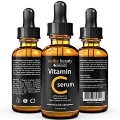 BEST VITAMIN C Serum for Face - 2 fl. oz - organic Vit C E Hyaluronic Acid - Professional Facial Skin Care Formula that helps Repair Sun Damage and Fade Age Spots - Radha Beauty >>> You can find more details by visiting the image link. Vitamin A, Best Vitamin C, Natural Vitamin C, Vitamin C Benefits, Best Hyaluronic Acid Serum, Anti Aging Serum, Anti Aging Skin Care, Glycolic Acid, Beauty Vitamins