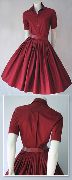 50s Miss Pat red skirt and top