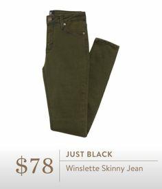 Stitch Fix Fall 2016 - Just Black, Winslette Skinny Jean Olive Green skinnies for fall