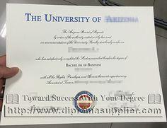 University Of Arizona Eller College Management Bachelor Business Degree Fake Certificate