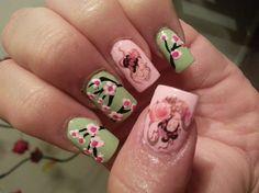 Geisha♥cherry blossom by babycakesmom03 - Nail Art Gallery nailartgallery.nailsmag.com by Nails Magazine www.nailsmag.com #nailart