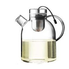 Kettle Teapot, Glass w/ Tea Egg