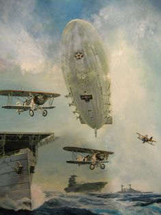 The final  chapter of the  US Navy airship USS MACON was written in February 1935, when the aircraft crashed off Point Sur, south of Monterey, and sank in the Pacific.  The wreck site, on the ocean floor 1500 feet below the surface , is now is now part of the National Register of Historic Places..