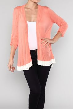 Classic cardigan in super soft knit - great for curvy women