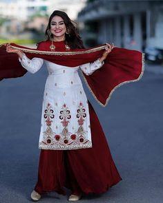 Indian Fancy Dress, Indian Bridal Wear, Dress Indian Style, Indian Fashion Dresses, Indian Designer Outfits, Indian Outfits, Indian Wear, Punjabi Fashion, Bollywood Fashion
