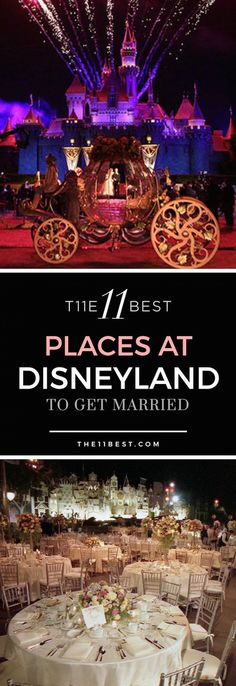 The 11 Best Places to get Married at Disneyland! Who knew a Disney wedding could be so truly magical?