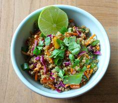 Thai quinoa salad - so tasty!