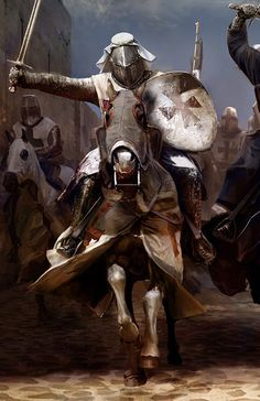 Knights on Horses by Mariusz Kozik