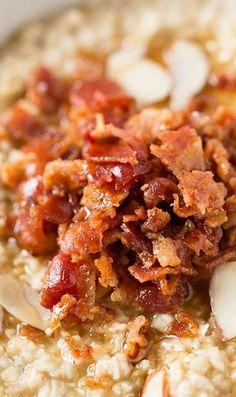 Maple Bacon Oatmeal