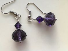 Purple Earrings Deep Purple Earrings