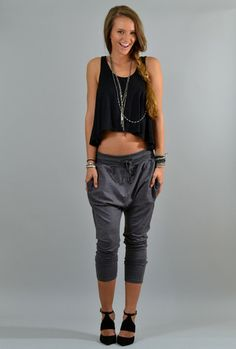 Harem Sweatpants...I would totally wear these!