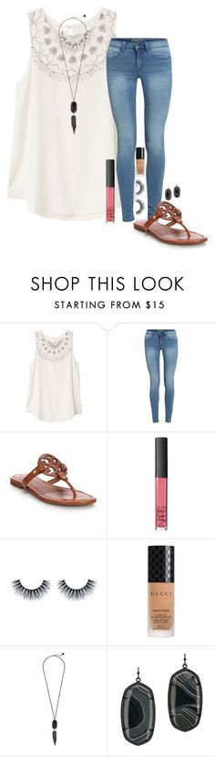 """less then 10 days left!!!"" by madeleineds ❤ liked on Polyvore featuring RVCA, Tory Burch, NARS Cosmetics, Gucci and Kendra Scott"