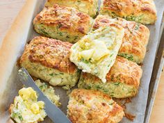 These scones really pack a punch with rocket and a double dose of cheese – feta in the scones and cheddar on the top. Slathered in butter, a warm scone is true comfort food, right?