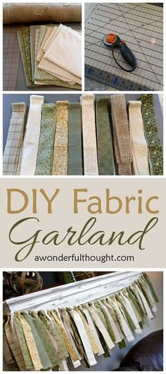 DIY Fabric Garland perfect for decorating on mantels, baby and kids rooms and party decor!  | http://awonderfulthought.com