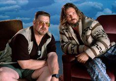 """John Goodman as Walter Sobchak & Jeff Bridges as Jeff """"The Dude"""" Lebowski in The Big Lebowski"""
