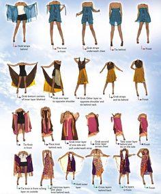 How to wear a sari silk wrap skirt - Darn Good Yarn