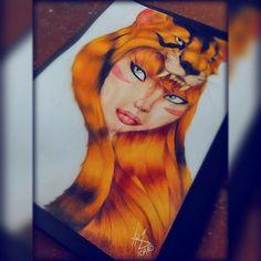 Girl Savage Redhead Desenho Drawing  Insta: icarodn27