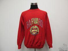 Vtg 90s Pannill Harvard Crimson Crewneck Sweatshirt sz XL Extra Large Ivy NEON #Pannill #HarvardCrimson #tcpkickz