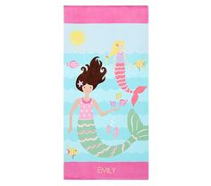 Image is loading Pottery-Barn-Kids-Beach-Towel-Personalized-Monogrammed -Brookelyn