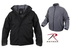 Black all weather 3 in 1 jacket $103.99 sizes: sm, md, lg, xl. color: black. Military Clothing. Military Jackets. http://www.armynavyshop.com/prods/rc7704.html