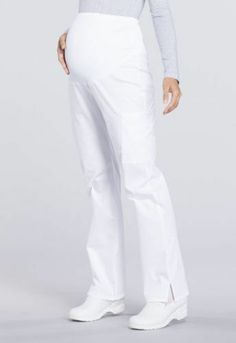 fca80623bbd eBay #Sponsored Cherokee Uniform scrubs Professionals Maternity Straight  Leg Pant White Xs 31