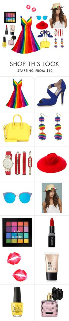 """""""Collection one"""" by reemalmazidi ❤ liked on Polyvore featuring Miss KG, Givenchy, Anne Klein, Gucci, Matthew Williamson, LULUS, NYX, Smashbox, Charlotte Russe and OPI"""