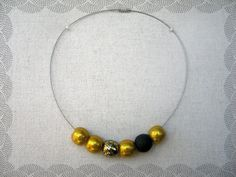 Unique polymer clay beads necklace by GATOHANDMADE on Etsy