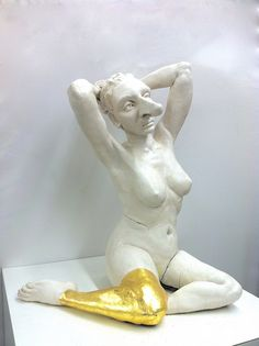 Ashley Maxwell sculpture.  Ceramic figure sculpture