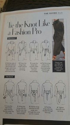 How to tie your trench coat's belt