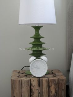 Torre & Tagus - Green side table lamp