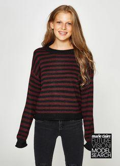Compra online Pullover lavorato tricot a righe su OVS. Scopri le migliori  offerte sulla categoria c8fe486a2ca