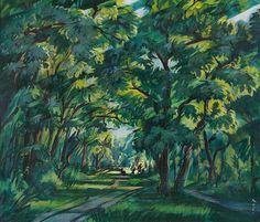 File:Tibor Boromisza - City Park in Debrecen 85,5X100 oil on canvas 1927.jpg