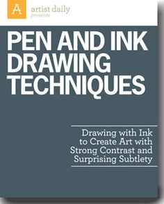 Discover inspiration to apply to your next pen and ink drawing with this free inking tutorial!