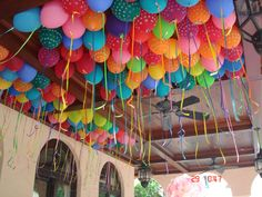Balloons to go in the living room for guests to take home.