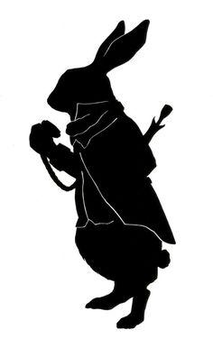 March Hare Silhouette pdf not for van silhouettesbycarolin op Etsy