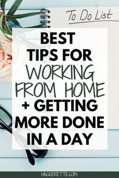 Need help getting more done while working at home? Here are my best tips for working at home + my morning routine to help me be more productive. #workfromhome #productivity | productivity hacks | productivity tips | productive day routine | working from home tips | working at home | how to be productive working from home | working from home productivity | being productive working from home | work from home tips | morning routine hacks | morning routine productive | morning routine women