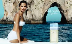 Bianca Balti Poses on the Coast for Dolce & Gabbana Light Blue Fragrance Campaign by Mario Testino 2013
