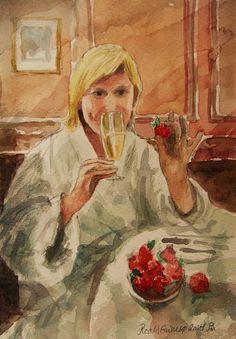 Kunstneren i Bergen: Jordbær og Champagne!