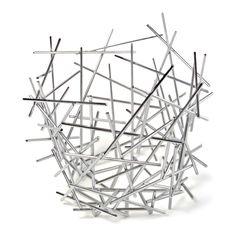 Alessi Blow Up Citrus Basket by Fratelli Campana, 2004 by All Modern Design Shop, Design Design, Interior Design, Fruit Bowls, Spaghetti Eis Dessert, Steel Rod, Large Baskets, Assemblage, Furniture