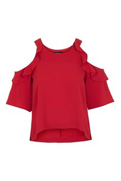 Topshop Ruffle Cold shoulder. Love giving the cold shoulder!