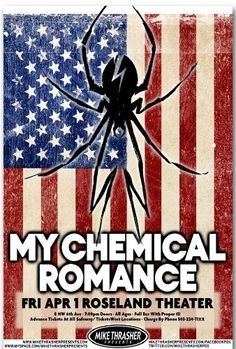 My Chemical Romance Poster - S Concert Flyer - Danger Days Tour 2011 by BadAss Posters, http://www.amazon.com/dp/B004N3Z5GY/ref=cm_sw_r_pi_dp_.QEeqb0EM1ZN1