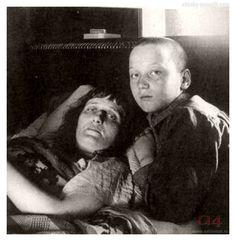 Anna Akhmatova (Anna Andreyevna Gorenko) and her son, Lev Gumilev